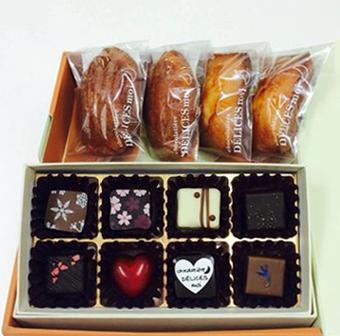 ギフトセット1「ボンボンショコラ&焼き菓子」商品01