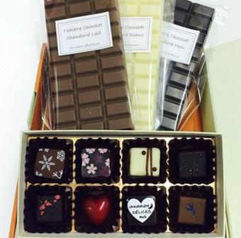 ギフトセット2「ボンボンショコラ&タブレットショコラ」商品01