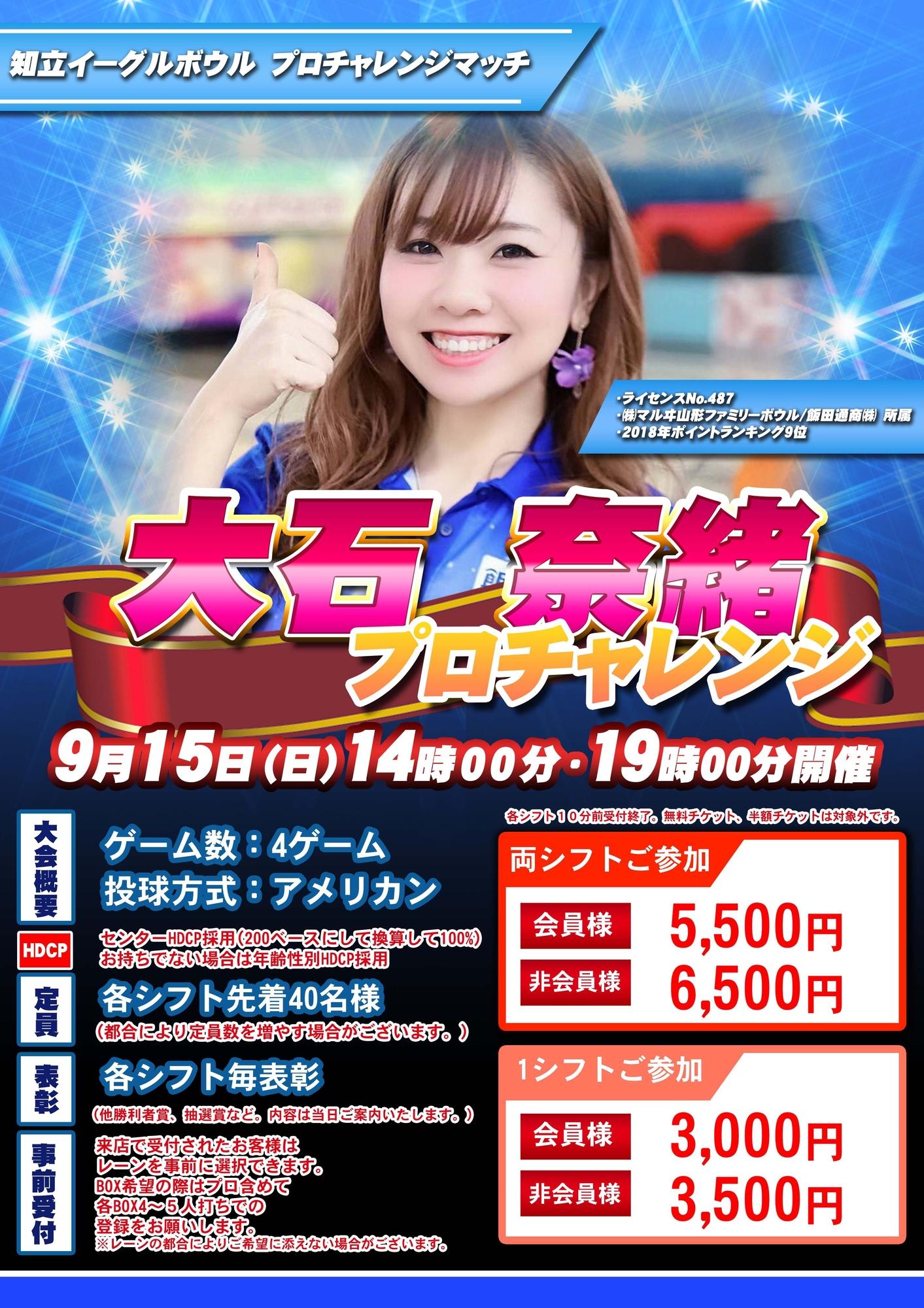9/15 大石奈緒プロチャレンジ
