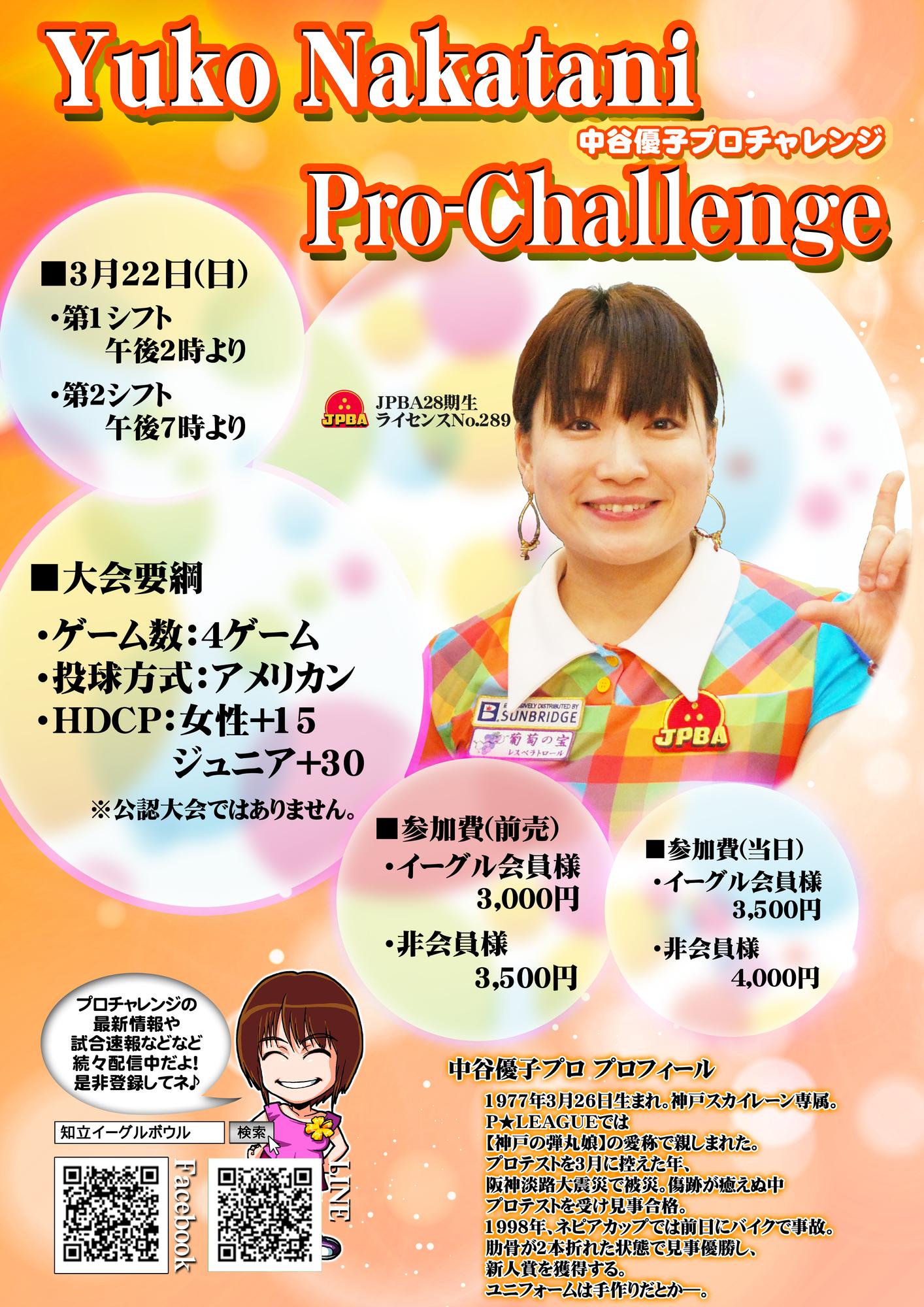 3/22 中谷優子プロチャレンジ