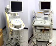 超音波新型エコー//左(日立/Hy vision Preirus)/右 Aloka-SSD-5500