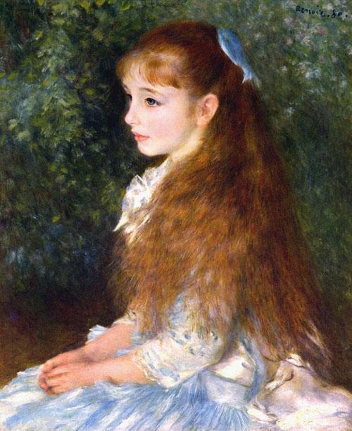 ルノアール イレーヌカーン・ダンヴェール嬢の肖像